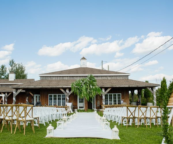 Outdoor country ceremony